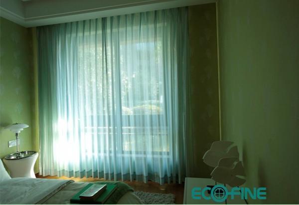 单向透视窗纱绿色装饰