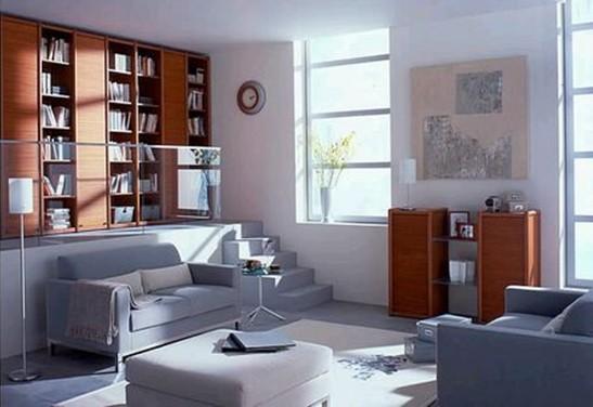 房价越来越上涨,迷你型的小户房子倍受青睐。不过在小户型家居装修这一方面,如何兼顾好小家空间、面积的利用以及美感、舒适感,就成了好多年轻人头疼的问题。几槛小小的楼梯,看似占用空间,事实上却反而为小户家居空间和美感的开发起了大作用。 楼梯不再是复式家居的专属了,小型楼梯已经成了小户时尚装修的别名。小户型家居的面积是有限的,但垂直空间却大有可利用之处。本来只能摆一张沙发椅的地方,旁边筑上一个小楼梯,往上延伸一个空间如小走廊般优雅,还可以放上一个置物柜,或摆上一套不大的时尚桌椅。  楼梯上层的围栏也是不可小觑的。