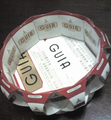 变废为宝 用废烟纸盒DIY烟灰缸