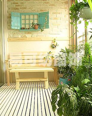 处理过防水,电路等各种管道后,田园风格的关键在于花园家具的选择和