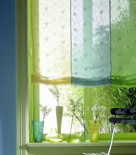 各种颜色的窗纱
