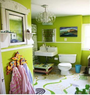 室外装修房子绿色瓷砖图片