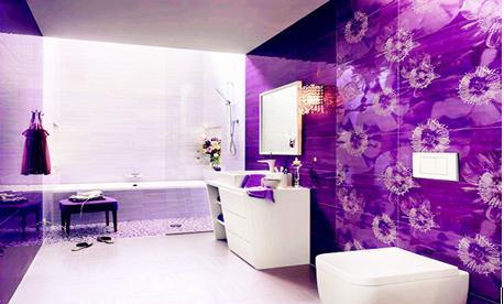 墙壁贴画图片大全淡紫色