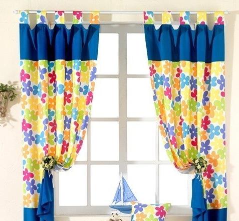 鲜艳的窗帘,可爱的家!
