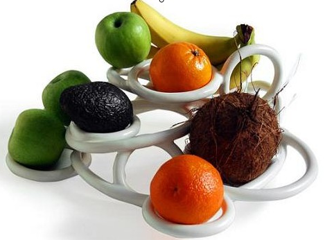 环型造型设计的水果盘