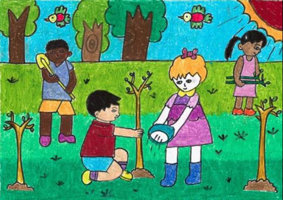 环保主题绘画作品