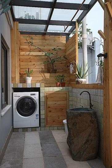 阳台变成洗衣房