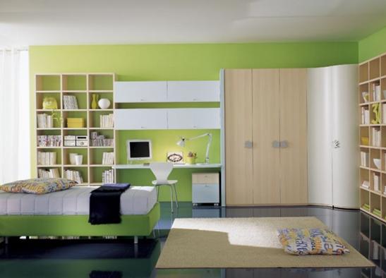 绿色多功能书房