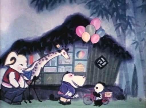《熊猫百货商店》,小熊猫的百货商店开张了,但是有很多动物顾客的要求