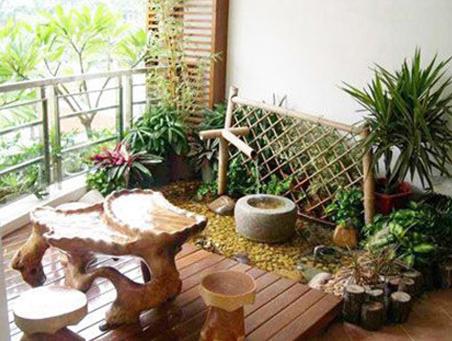 阳台上的小花园图片
