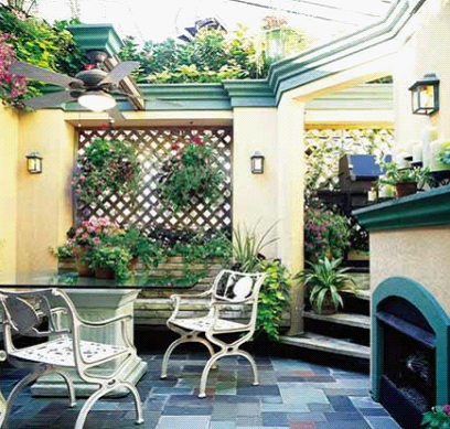 欧式田园阳台,弥散浪漫风情