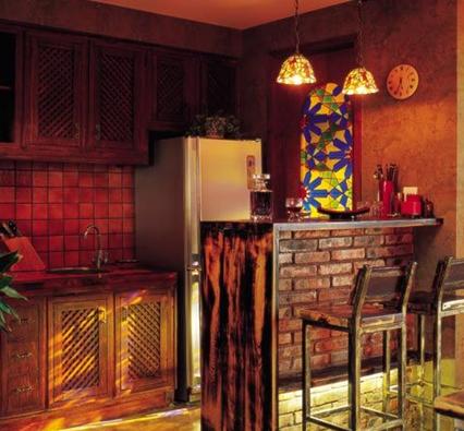 酒吧式厨房,让摇滚与小资并存