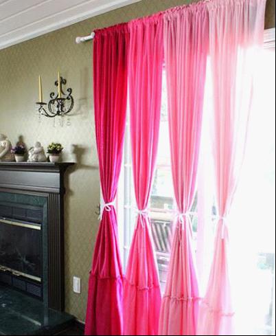 粉色的墙面怎么搭配窗帘