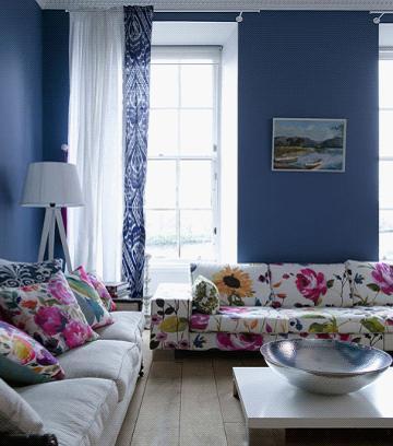 欧式印花沙发打造家居浪漫花样