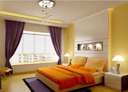 客厅暖色调窗帘