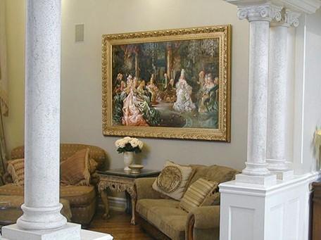 ...画,古典风格的家居可以选择古朴的木刻画,欧式风格的家居可以...