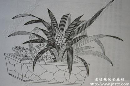 画素描画花瓶的步骤