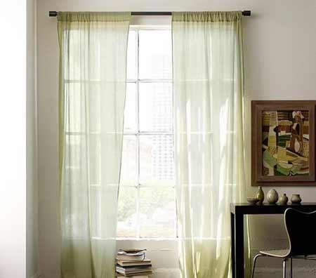 时尚亚麻窗帘图片,家居装修效果图
