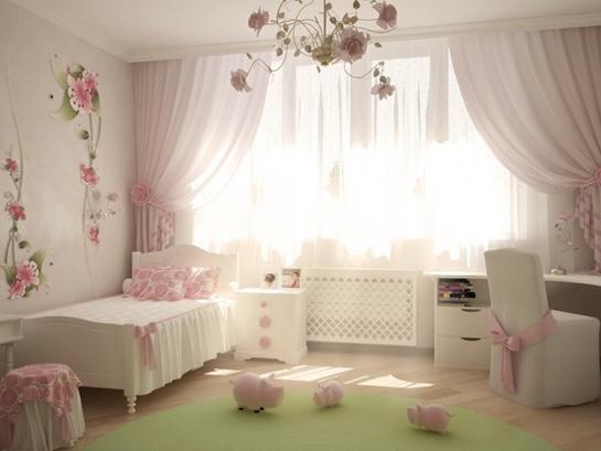 飘窗窗帘图片,卧室窗帘图片,窗帘图片