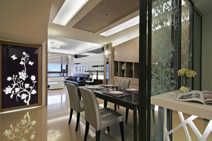 198平方米現代風格透天別墅客廳裝修效果圖