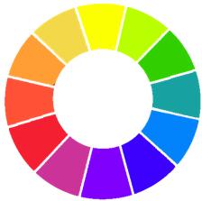 面料设计基础:对比色和互补色的搭配